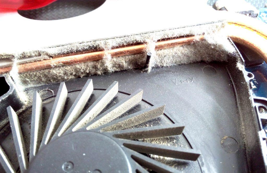 zapchany układ chłodzenia w laptopie